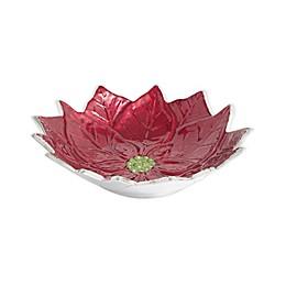 Julia Knight® Poinsettia 9-Inch Bowl in Pomegranate