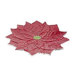 Julia Knight® Poinsettia 15-Inch Platter in Pomegranate