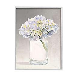 Jar Flowers 11-Inch x 14-Inch Framed Canvas Wall Art in White