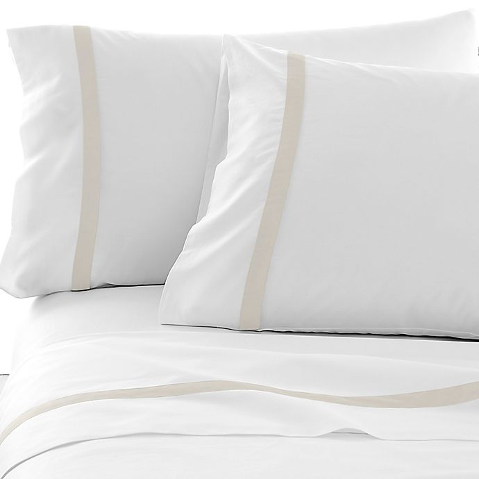 Alternate image 1 for Under The Canopy® Hotel Border 300-Thread-Count Pillowcases (Set of 2)