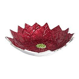 Julia Knight® Poinsettia 14-Inch Bowl in Pomegranate