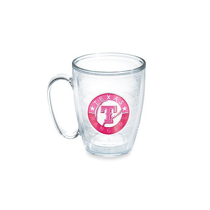 Alternate image 1 for Tervis® Neon Pink MLB Texas Rangers Emblem 15 oz. Mug