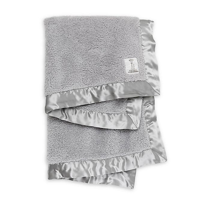 Alternate image 1 for Little Giraffe Large Chenille Receiving Blanket in Silver