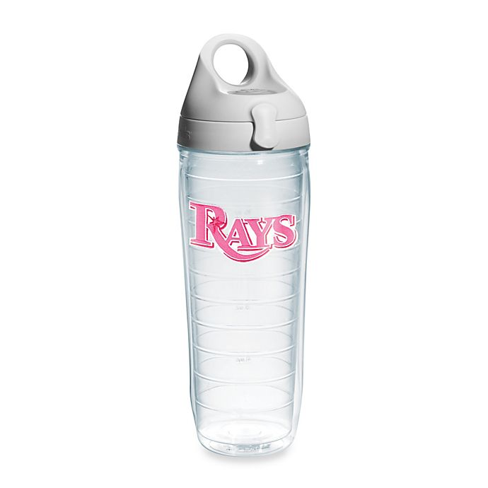 Alternate image 1 for Tervis® Tampa Bay Rays Emblem 24–Ounce Water Bottle with Lid in Neon Pink