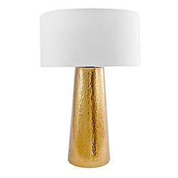 nuLOOM Layla Aluminum Table Lamp in Gold with Cotton Shade
