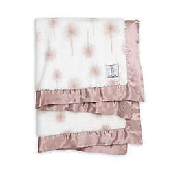 Little Giraffe Dandelion Faux Fur Receiving Blanket in Dusty Pink