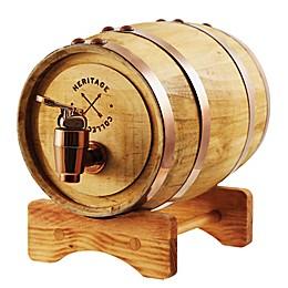 Polished Whiskey Barrel Beverage Dispenser