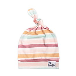 Copper Pearl™ Size 0-4M Belle Top Knot Hat in Pink/White