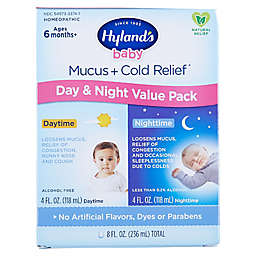 Hyland's Baby Mucus + Cold Relief 8 oz. Day & Night Value Pack