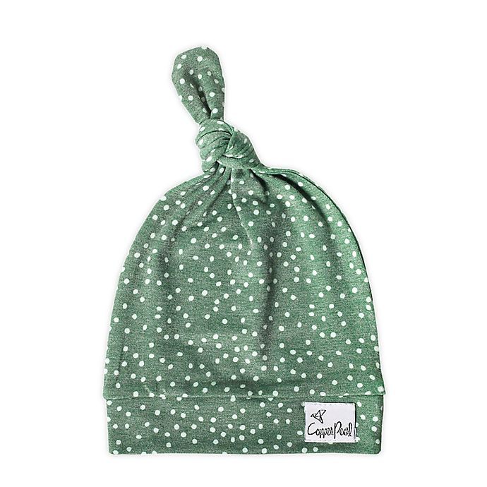 Alternate image 1 for Copper Pearl™ Juniper Top Knot Hat in Green/White