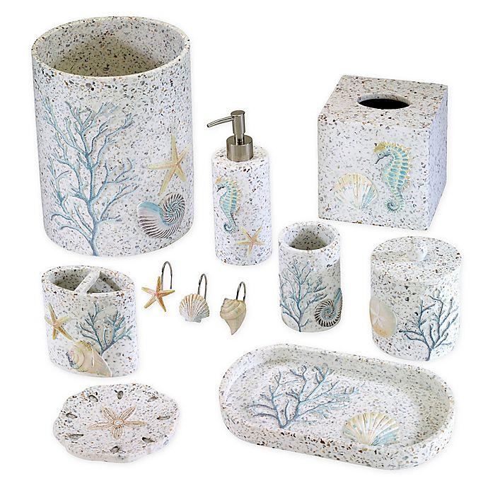 Avanti Coastal Terrazzo Wastebasket, Avanti Bathroom Sets