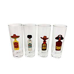 Hats Shot Glasses (Set Of 4)