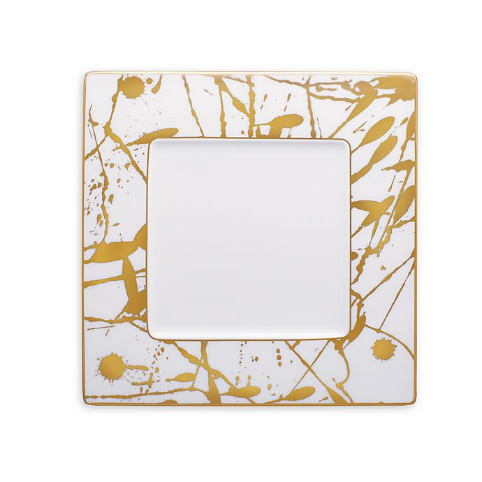 Alternate image 1 for Noritake® Raptures Gold 9-Inch Square Accent Plate