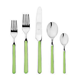 Mepra Fantasia 5-Piece Flatware Place Setting in Acid Green