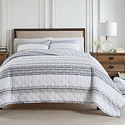 Waverly® Tansin Stripe 3-Piece Reversible Quilt Set