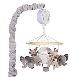 Lambs & Ivy® Linen Safari Musical Mobile in Grey