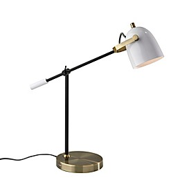 Adesso® Casey Desk Lamp in Black/White