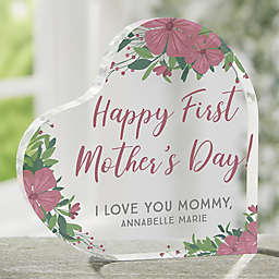 First Mother's Day Personalized Heart Keepsake