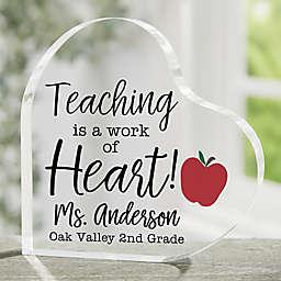 Inspiring Teacher Personalized Heart Keepsake