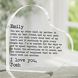 Love Notes Heart Keepsake