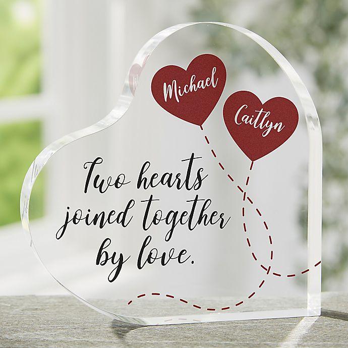 Alternate image 1 for Two Hearts, One Love Keepsake Heart