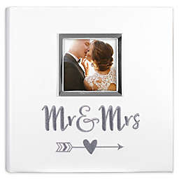 "Malden® 160-Photo ""Mr. & Mrs."" Photo Album in White"