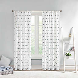 Intelligent Design Sophie Pom Pom Embellished Window Curtain Panel