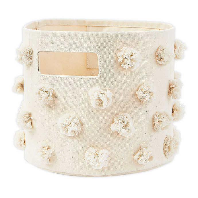 Alternate image 1 for pehr Pom Pom Pint Canvas Storage Bin