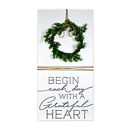 Prinz Begin Each Day 17-Inch x 36-Inch Boxed Wall Plaque in White