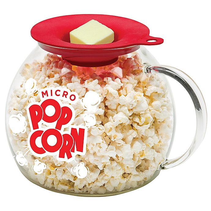 LaRoma® 3-Quart Glass Microwave Popcorn Popper | Bed Bath & Beyond