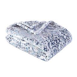 Berkshire Blanket® Madeline Damask Ultra Velvet Throw Blanket in Blue