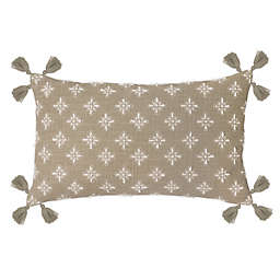 Perro Oblong Throw Pillow in Sand
