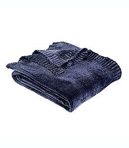 Frazada Berkshire Blanket® lisa de chenilla en azul marino