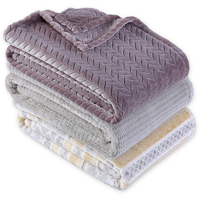 Alternate image 1 for Berkshire Blanket® Ultra Velvetloft Jacquard Throw Blanket