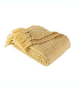 Frazada Berkshire Blanket & Home Co.® de tejido tweed en beige