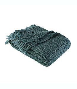 Frazada Berkshire Blanket & Home Co.® de tejido tweed en azul ultramar