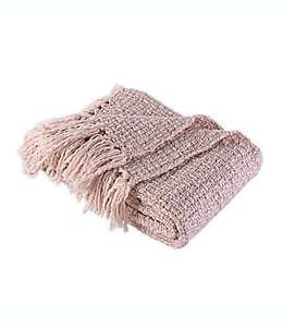 Frazada Berkshire Blanket & Home Co.® de tejido tweed en rosa blush