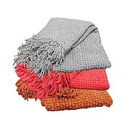 Basketweave Throw Blanket