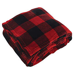 Hudson Home Collection Silky Plush Oversized Throw Blanket in Red Buffalo Plaid