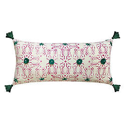 Global Caravan Festival Tasseled Oblong Throw Pillow