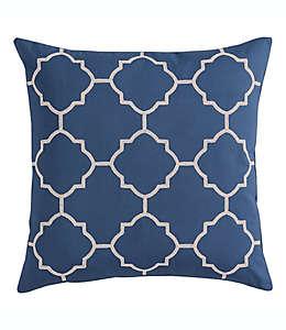 Funda cuadrada para cojín Morgan Home con diseño geométrico en azul marino