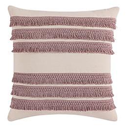Morgan HomeSquare Decorative Fringe Throw Pillow Cover