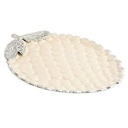 Julia Knight® Luxe Lodge Pine Cone 13-Inch Platter in Snow