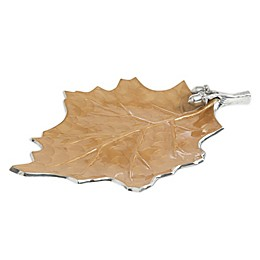 Julia Knight® Luxe Lodge Oak Leaf 18-Inch Platter in Toffee