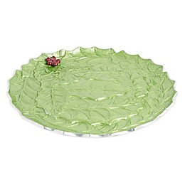 Julia Knight® Holly Sprig 13-Inch Round Platter in Mojito