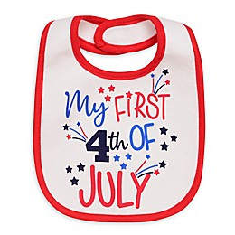 Baby Starters Holidays Bib - Standard in White 1 piece set