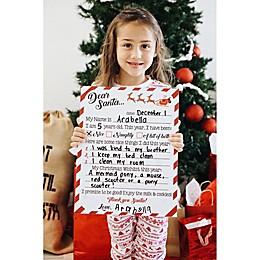 Reusable Christmas Wishlist Sign with Chalk Crayon