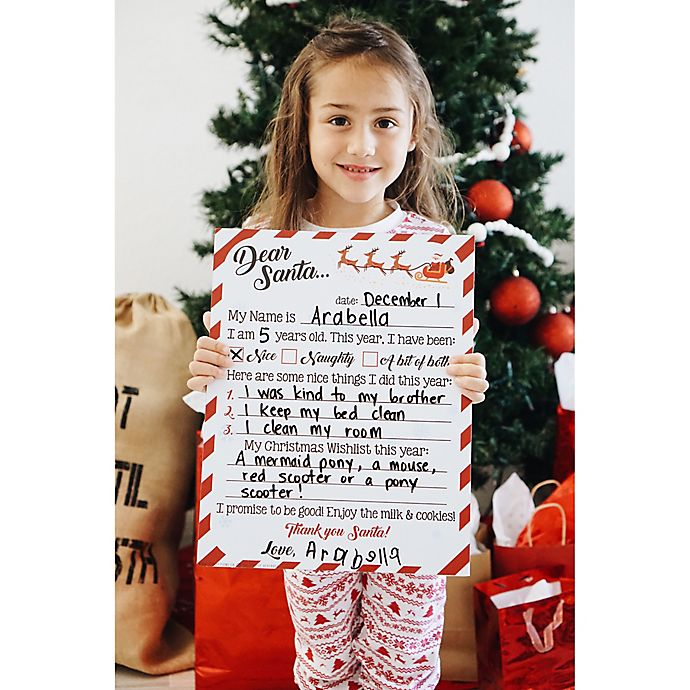 Alternate image 1 for Reusable Christmas Wishlist Sign with Chalk Crayon
