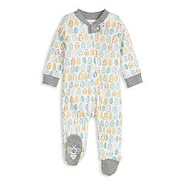 Burt's Bees Baby® Mixed Eggs Organic Cotton Footie in Heather Grey