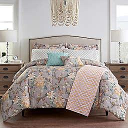 Waverly® Mudan Floral 10-Piece Reversible King Comforter Set in Pink